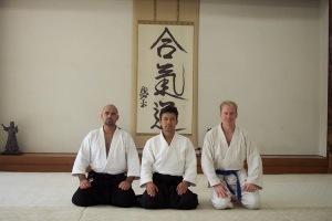 Dave Mata, Kanazawa Sensei, Craig Belrose, Hombu-Dojo 2