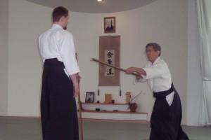 Matsuda Sensei teaching Kangeiko